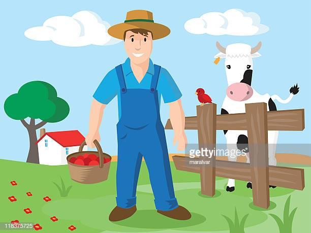 60 Top Farmer Stock Illustrations, Clip art, Cartoons, & Icons.