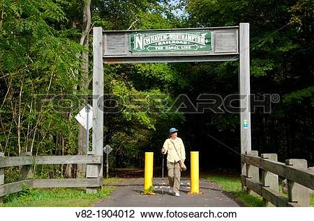 Stock Photo of Farmington Canal Heritage Trail archway, Farmington.