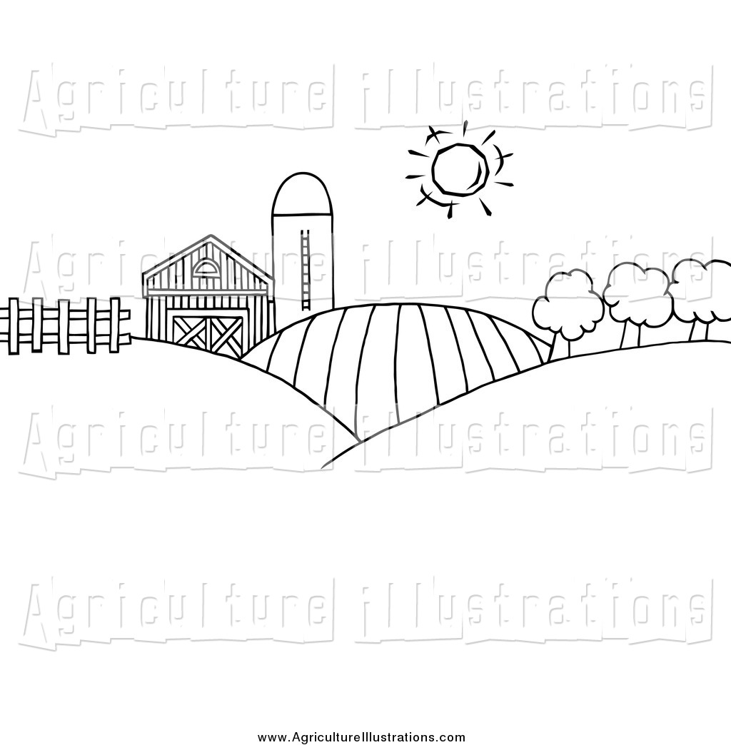 Land Clipart Black And White.