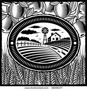 farmland clipart black and white.