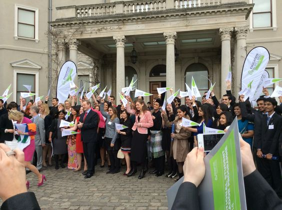 The Education in Ireland Student Ambassadors at Farmleigh.