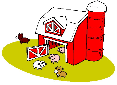 Red farm clipart #10