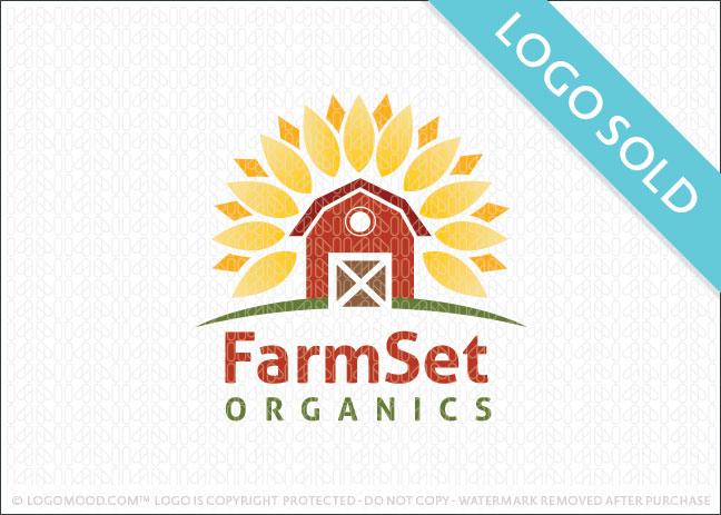 Readymade Logos for Sale FarmSet Organic Barn.