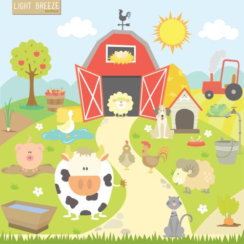 Farm Clip Art For Teachers.