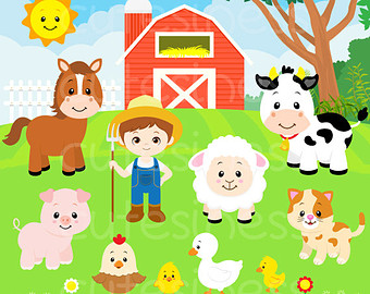 cute farm clipart.