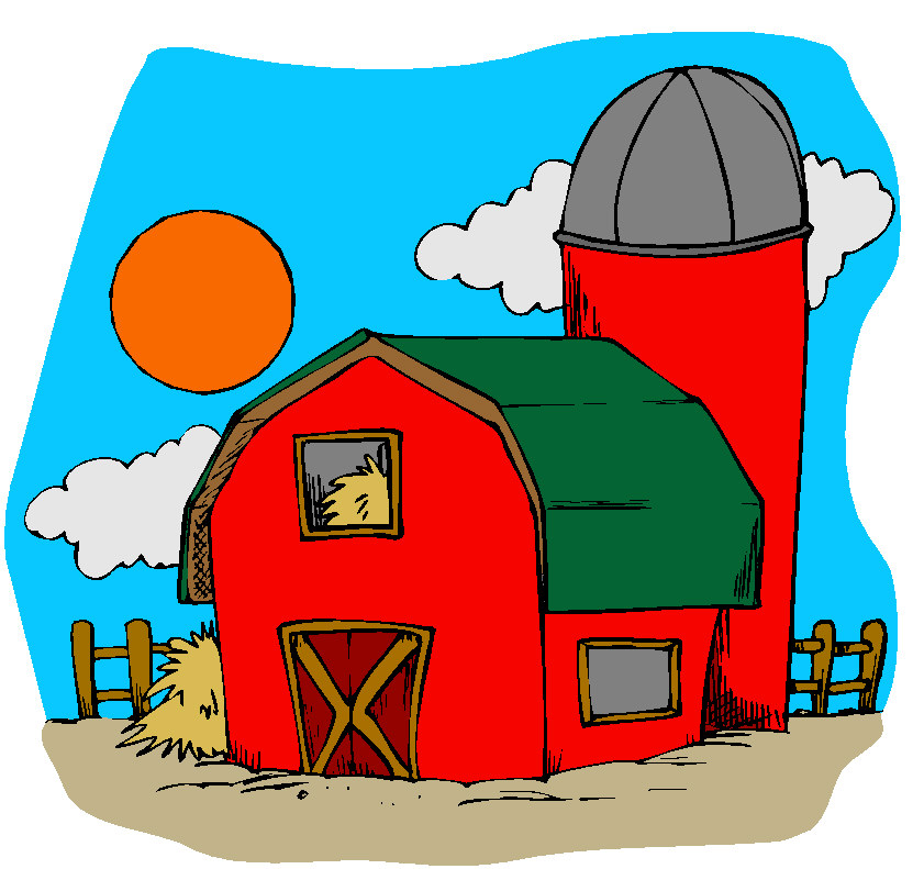 Clip art of farm.