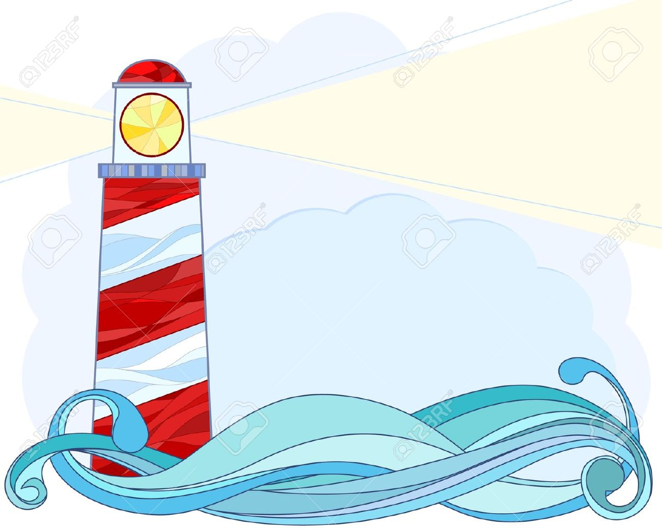 Stylised Vector Illustration Of A Lighthouse Royalty Free Cliparts.