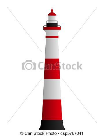 Vector Clip Art de Faro csp5767041.
