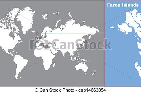 Clipart Vector of faroe islands csp14663054.
