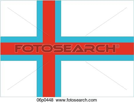 Clip Art of faroe islands flag 06p0448.