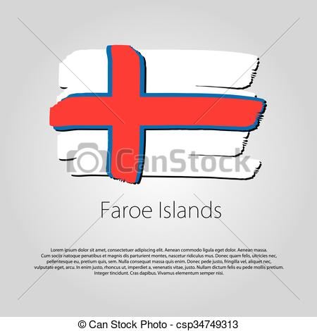 Vector Clip Art of Faroe Islands Flag.