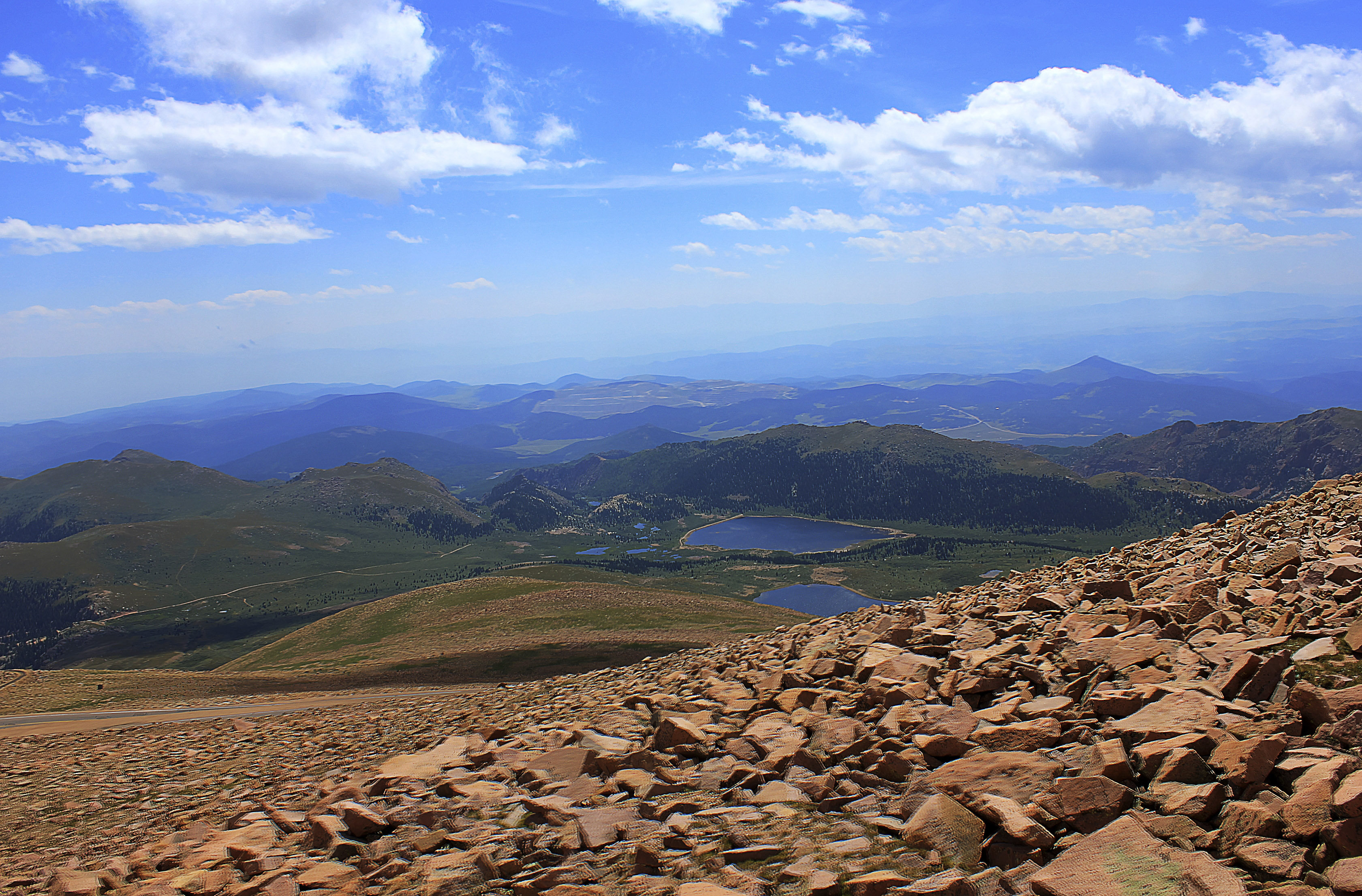 Far off Mountains at Pikes Peak, Colorado.