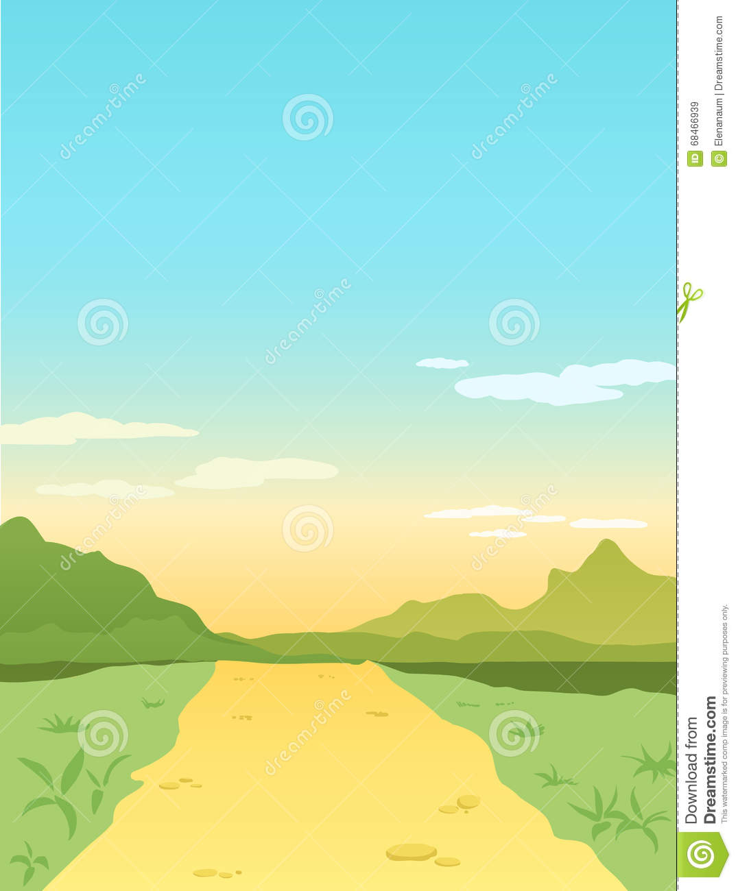 Nature Background Stock Vector.