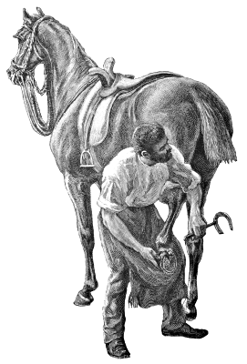 Free Horse Farrier Clipart, 1 page of Public Domain Clip Art.