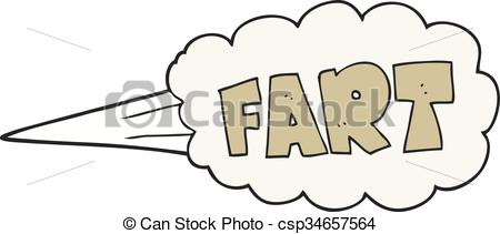Clip Art Vector of cartoon fart symbol.