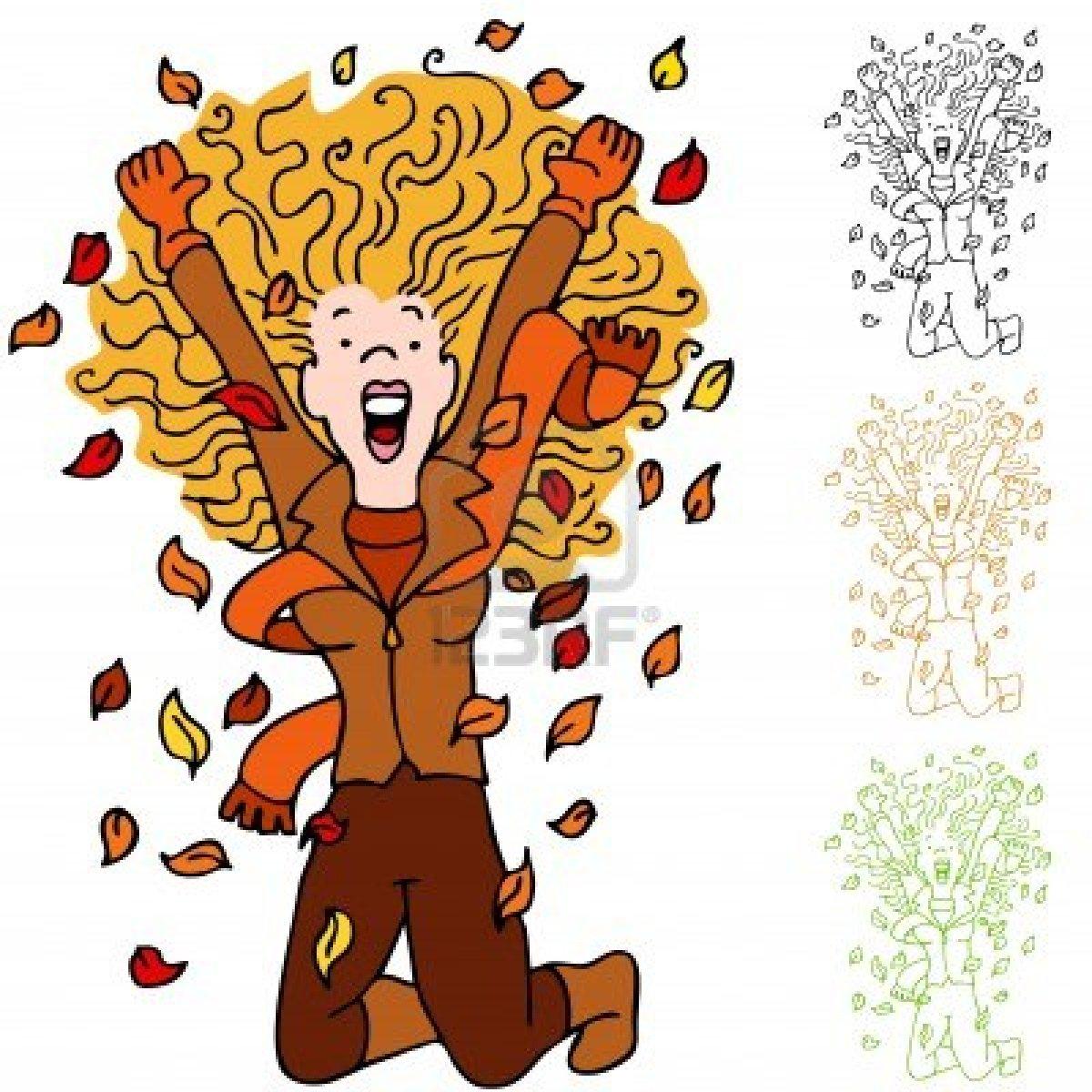 Fall cartoon clip art.