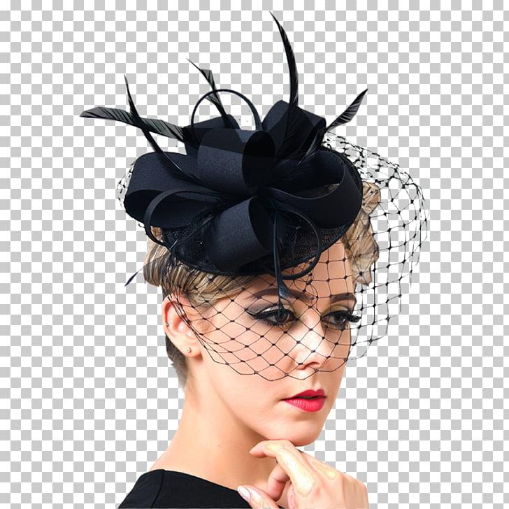 Headpiece Cocktail hat Fascinator Veil, Hat PNG clipart.