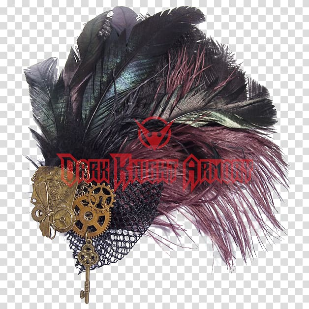 Steampunk Hat Fascinator Woman Punk subculture, Feather.