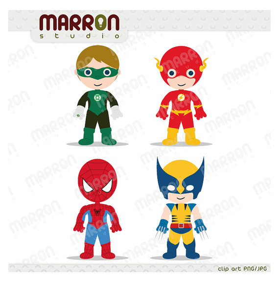 Flash Superhero Clipart.