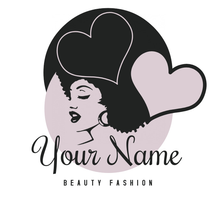 Beauty Fashion Salon Logo Template.