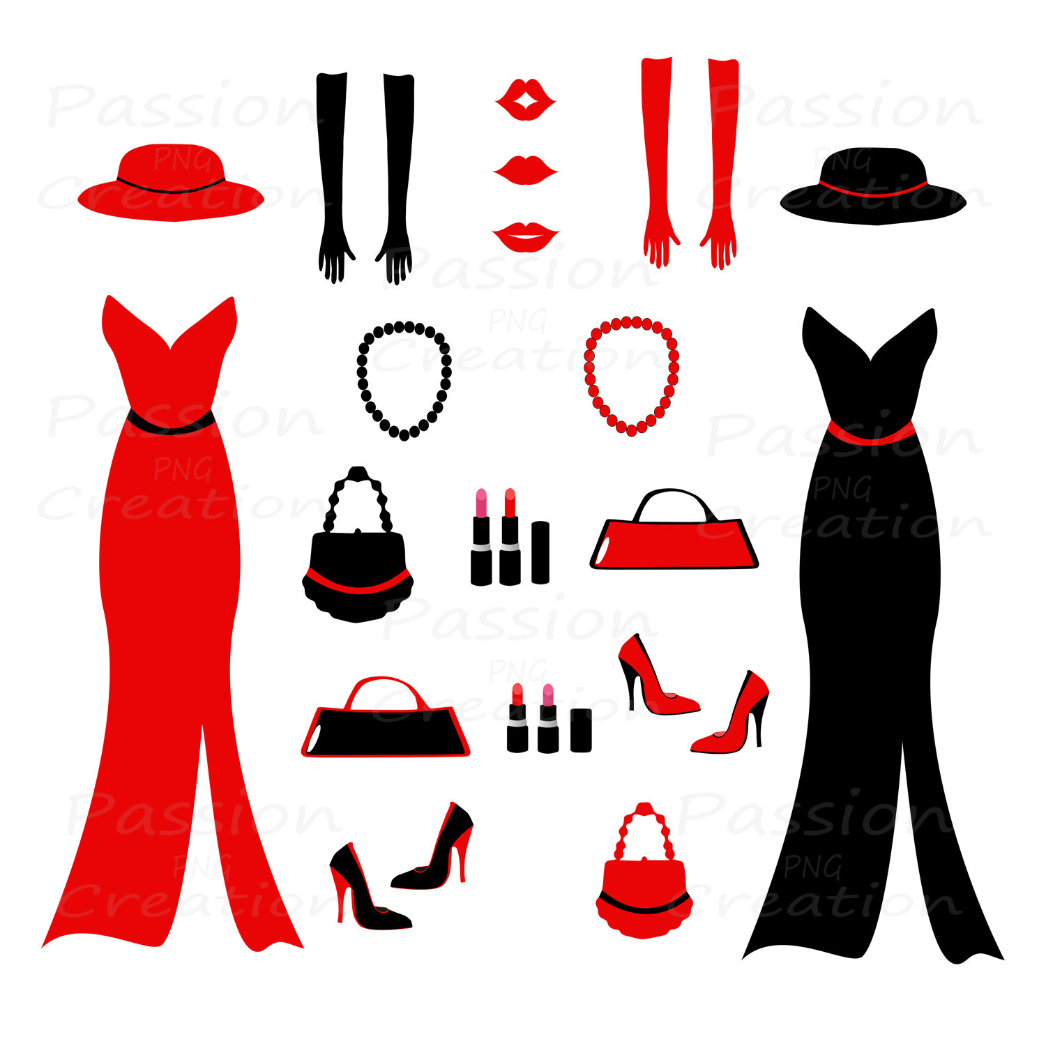 Fashion clip art images illustrations photos.