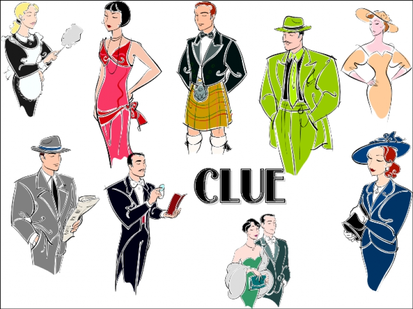 Clue Board Game Clipart.