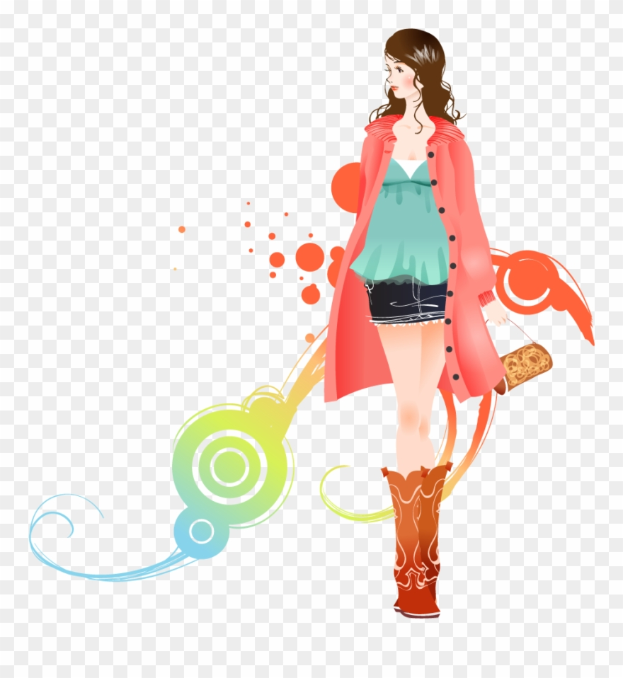 Download Fashion Girl Background Clip Art Transparent.