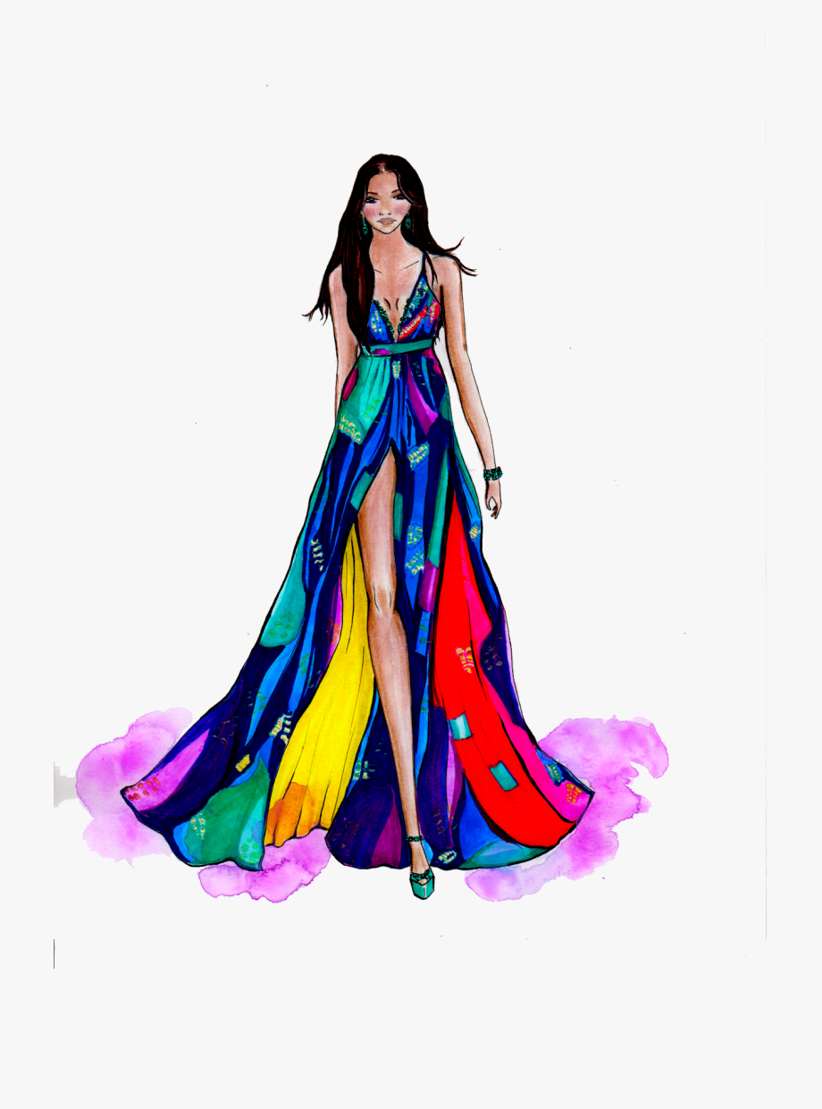 Model Fashion Design Transparent Illustration Hd Image.