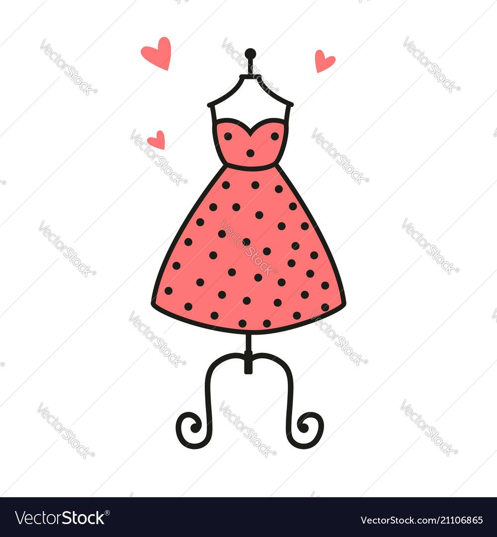 Women fashion logo design template dress emblem.