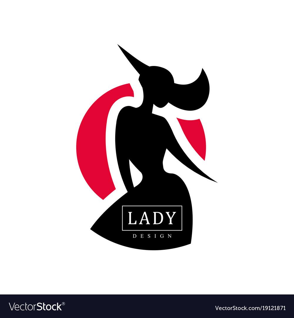 Lady design logo fashion beauty salon studio or.