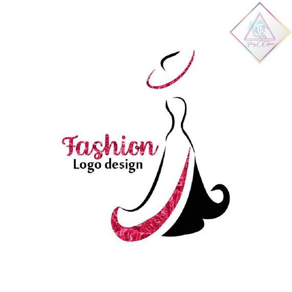 Premade fashion logo design in png and pdf format, woman in.