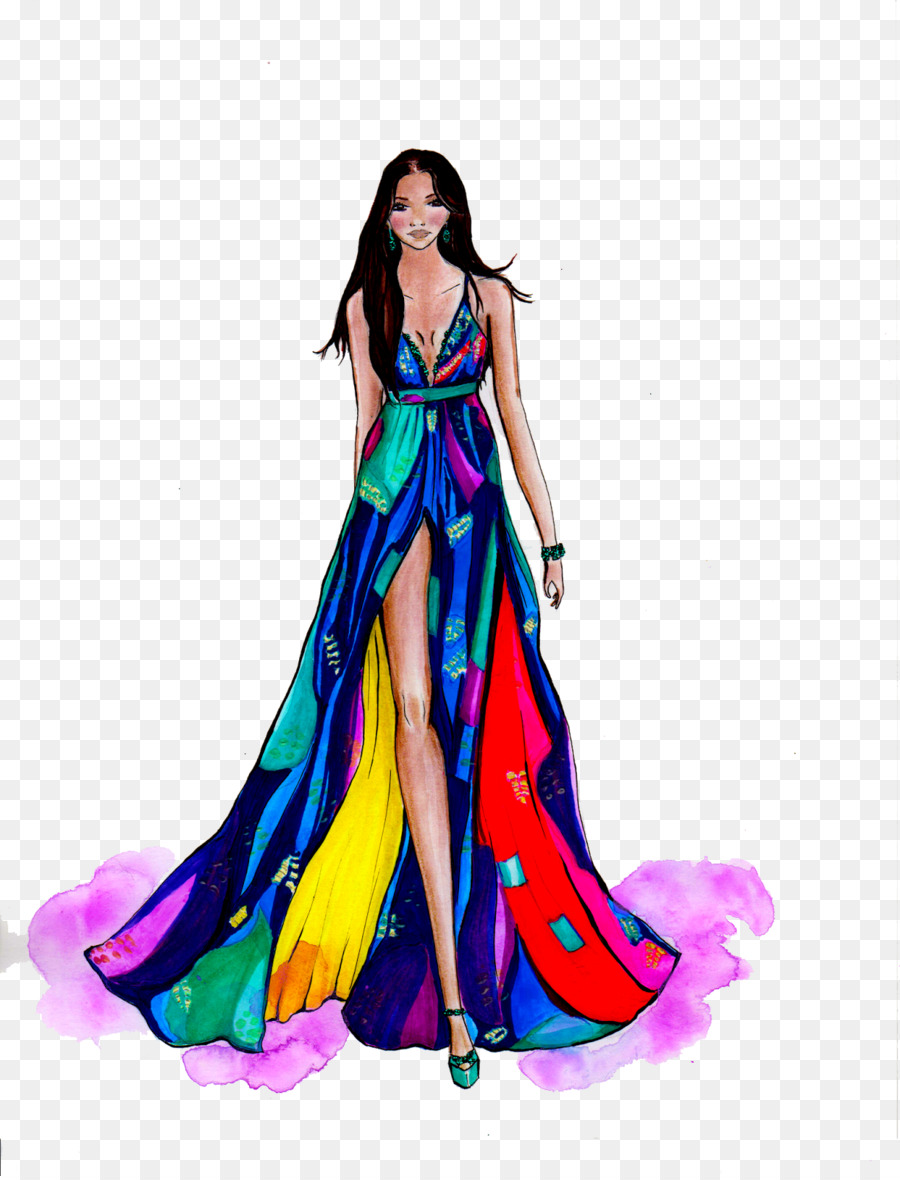 Fashion Gown png download.