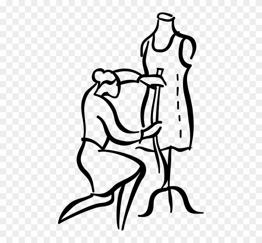 Vector Illustration Of Fashion Design And Garment Industry.