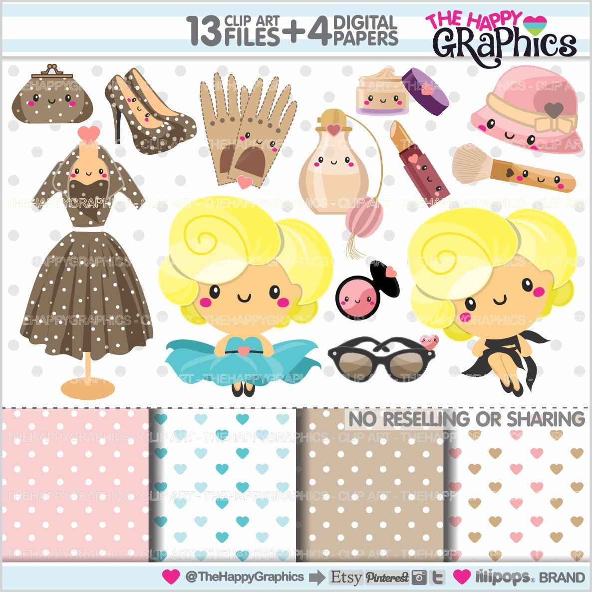Girl Clipart, Diva Clipart, COMMERCIAL USE, Fashion Clipart.