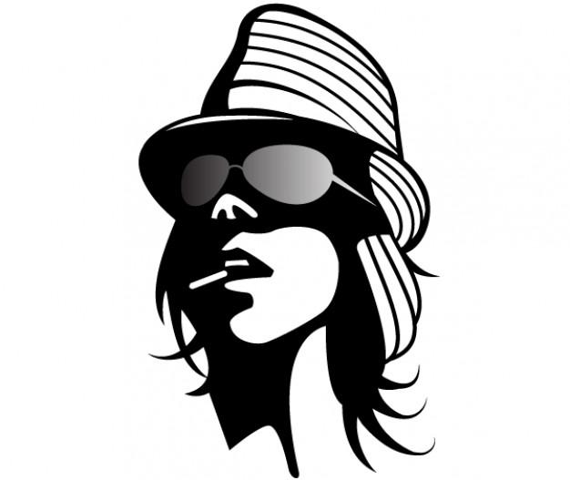Fashion girl vector clip art Vector.