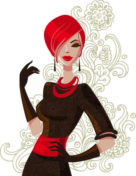 Beautiful of fashion girls vector graphic Free vector in.