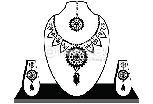 Jewelry Design Line Art : Fashion jewellery clipart clipground