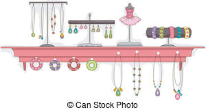 Costume Jewelry Clipart.