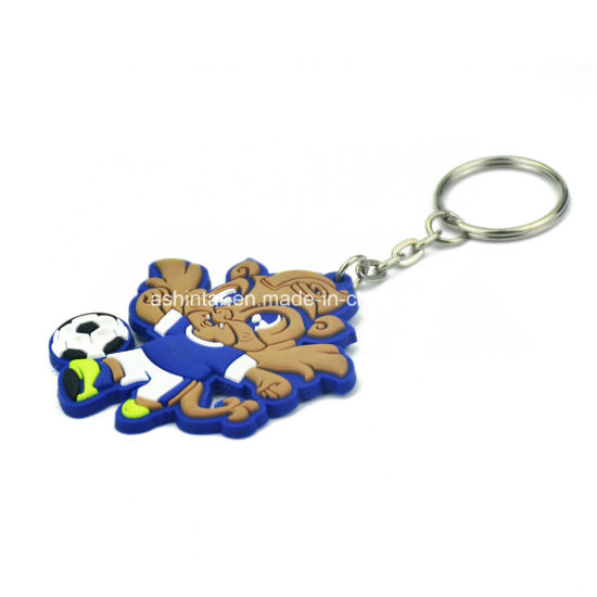 China Home Decoration OEM Custom Rubber Keychain for Fashion.