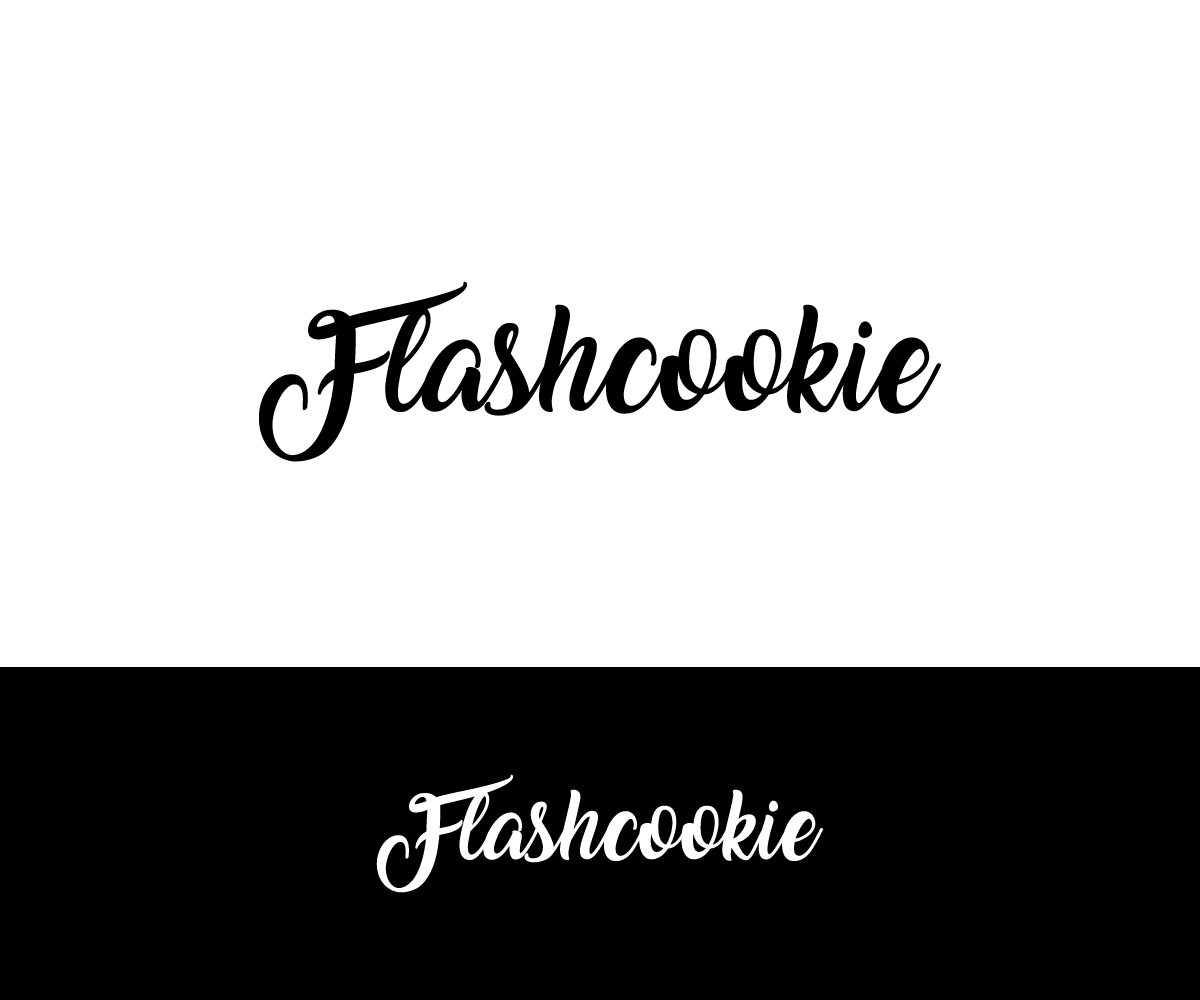 "Playful, Modern, Fashion Logo Design for ""Flashcookie"" is."
