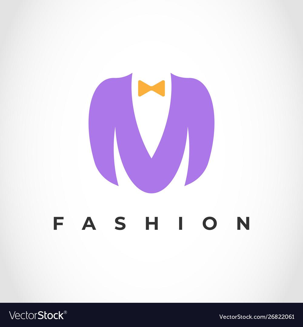 Creative brand letter m men fashion logo design.