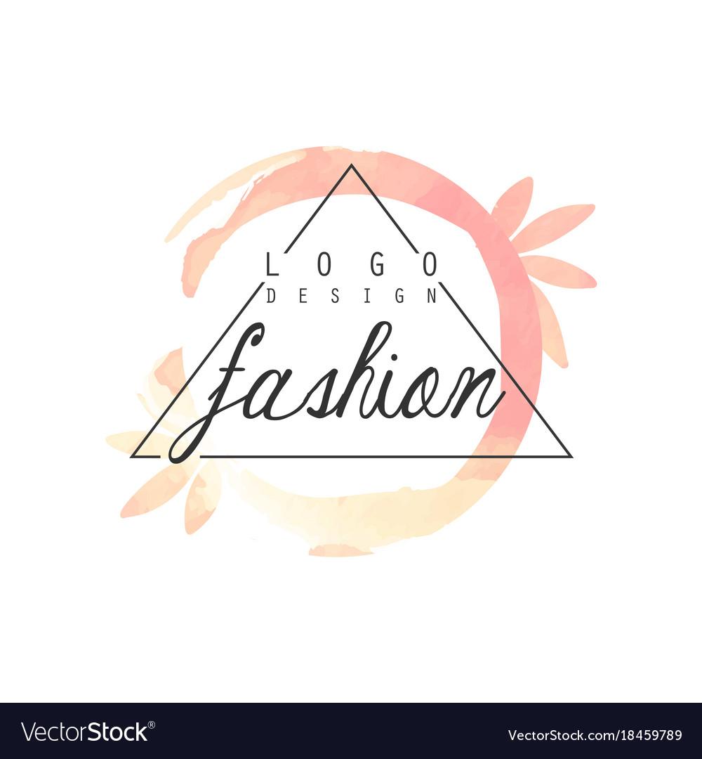 Fashion logo design badge for clothes boutique.