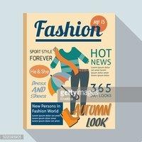 Fashion Magazine Flat Illustration Stock Vector.