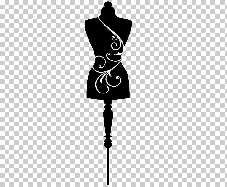 Mannequin Dress form Silhouette Fashion Textile, Silhouette.