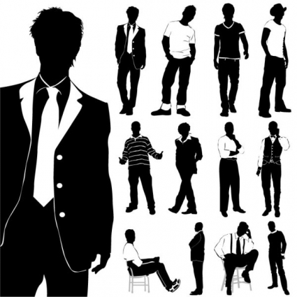 Free clip art fashion model silhouette free vector download.