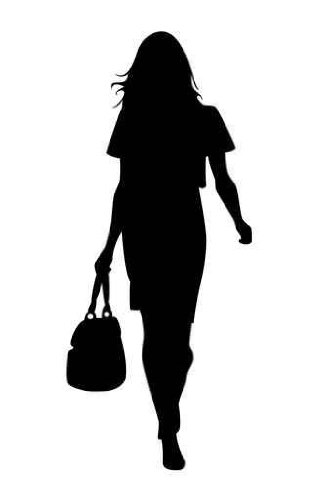 Fashion model clip art.