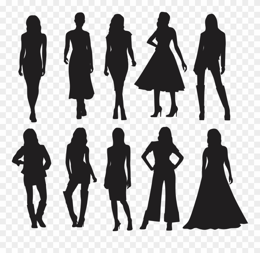 Silhouette Model Fashion.