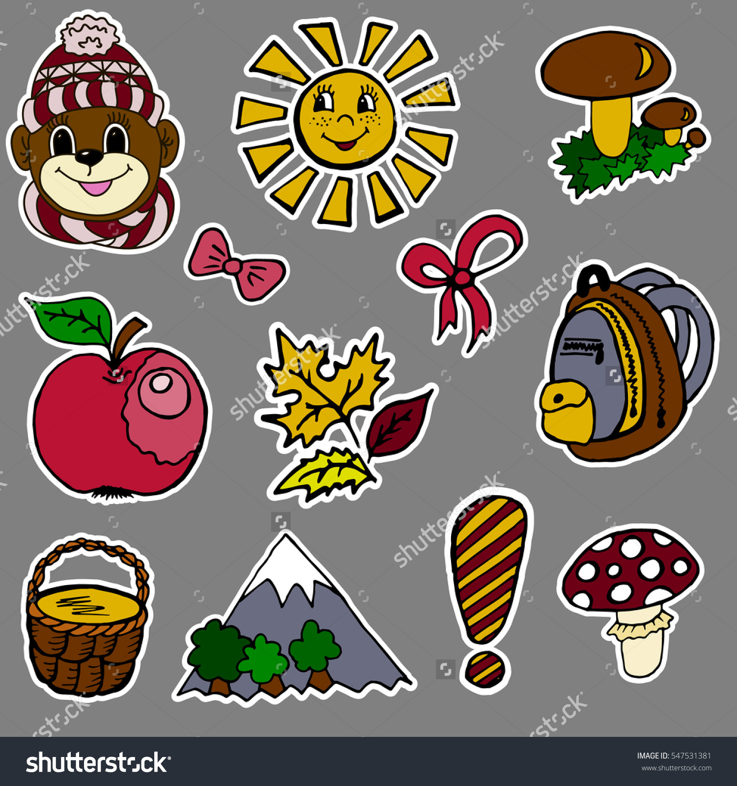 Set Fashion Labels Badges Exclamation Point Stock Vector 547531381.