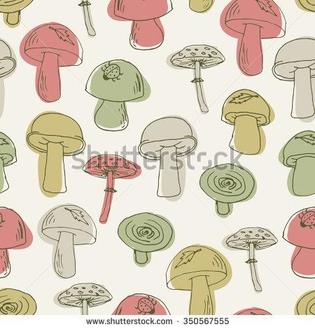 Mushrooms Cartoon Set Honey Agaric Porcini Stock Vector 318301505.