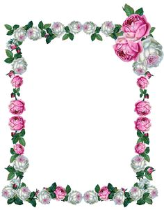 Free Printable Frame: Digital Frame Clip Art with Yellow Rose.